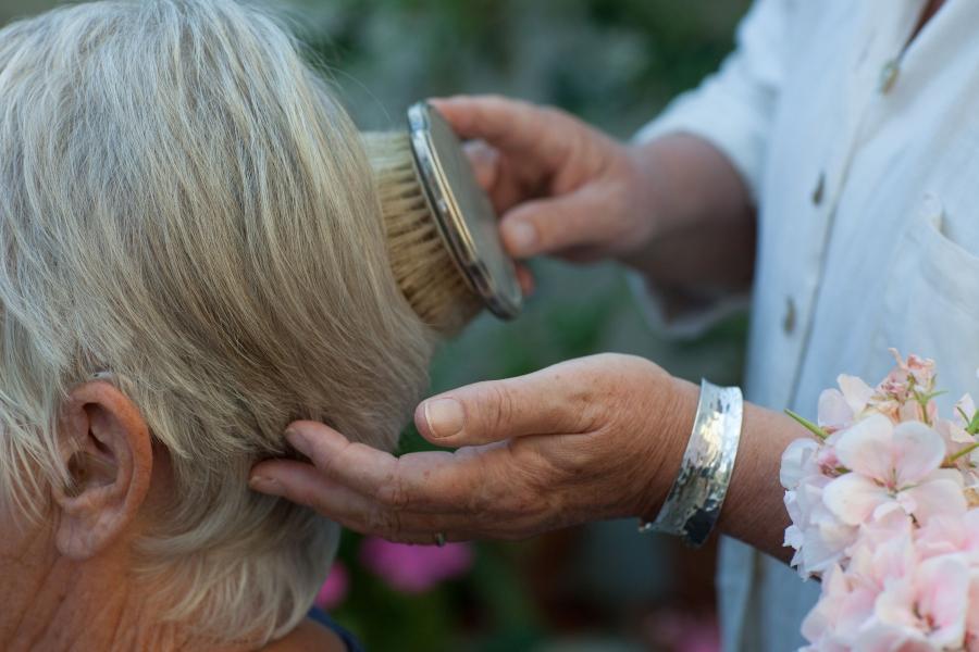 The simple things - brushing hair
